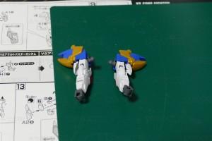 V2アサルトバスターガンダム 腕部制作完了
