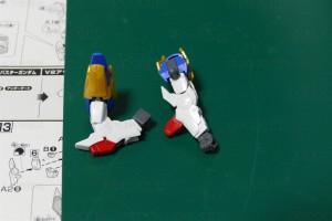 V2アサルトバスターガンダム 腕部可動範囲
