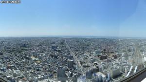 浜松アクトタワー展望台から南方向