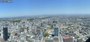 浜松アクトタワー展望台から北方向