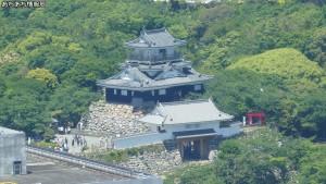 浜松アクトタワー展望台から浜松城