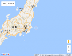 Google Map API v3 中央に十字アイコン表示